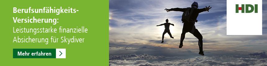 HDI — Leistungsstarke finanzielle Absicherung für Skydiver